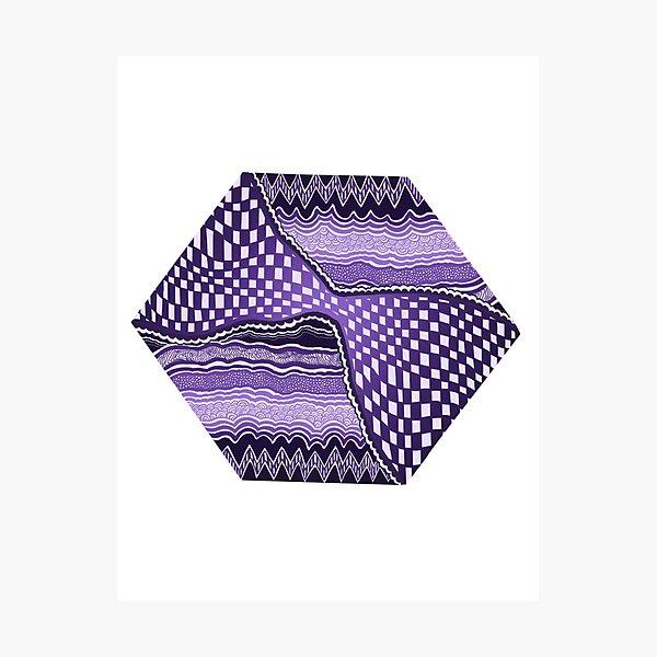 Purple Hexagon  Photographic Print