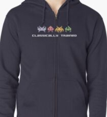 Classically Trained - 80s Video Games Zipped Hoodie
