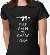 Keep Calm and Carry Vera Womens Fitted T-Shirt