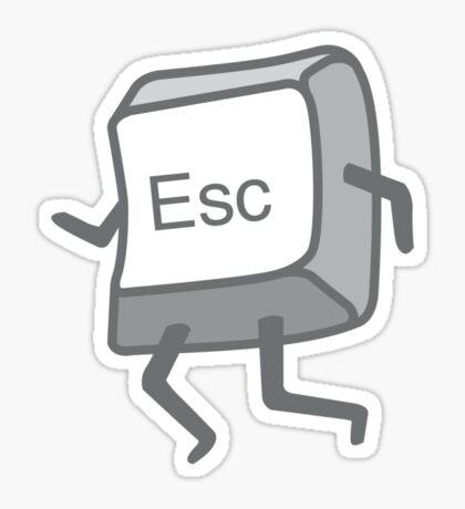 Esc Button - Escaping Sticker