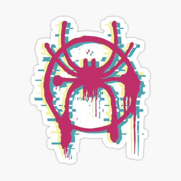 Into the Spider-Verse - (Glitch Comic Colors Version)  Sticker