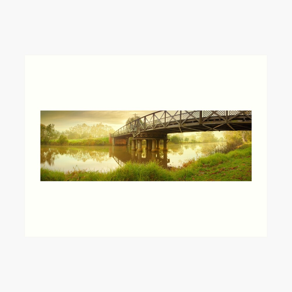 Sale Swing Bridge, Victoria, Australia Art Print
