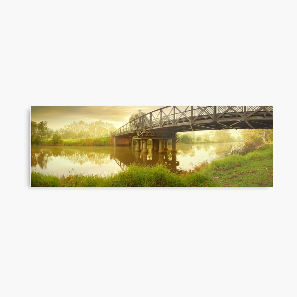 Sale Swing Bridge, Victoria, Australia Metal Print