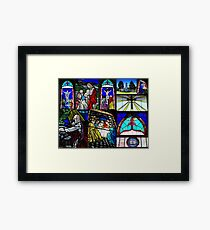 Stained Sacred Framed Print