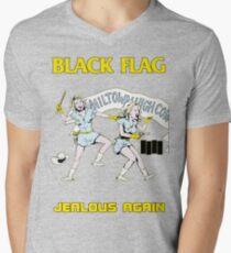 Black Flag - Jealous Again Men's V-Neck T-Shirt