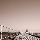 Whitby Pier by Mark Dobson