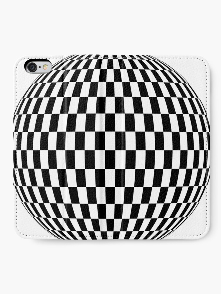Alternate view of #sphere, #illustration, #design, #ball, shape, separation, circle, retro style, cartography, physical geography, square iPhone Wallet