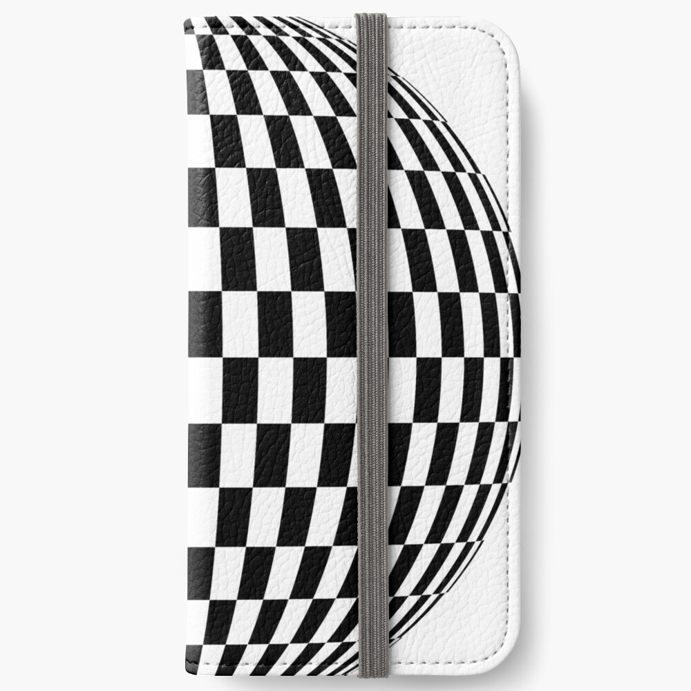 #sphere, #illustration, #design, #ball, shape, separation, circle, retro style, cartography, physical geography, square iPhone Wallet