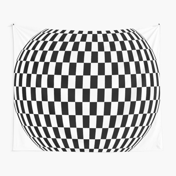 Mathematics, #sphere, #illustration, #design, #ball, shape, separation, circle, retro style, cartography, physical geography, square Tapestry