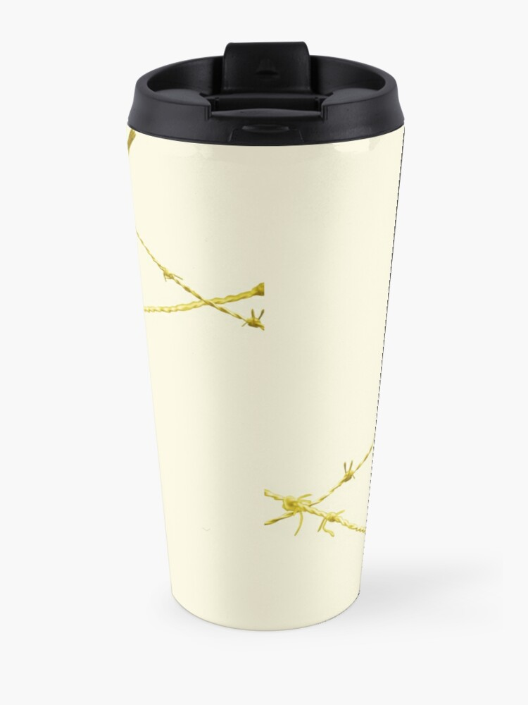 Alternate view of Monochrome - Yellow warblers on the wire Travel Mug