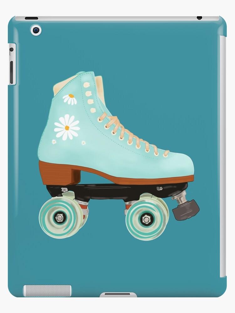 Retro Green Pastel Roller Skate Ipad Case Skin By Mimietrouvetou Redbubble