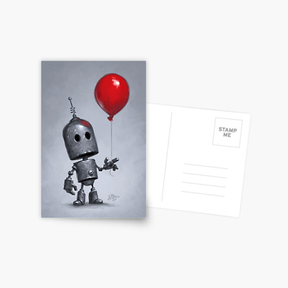 The Red Balloon Postcard