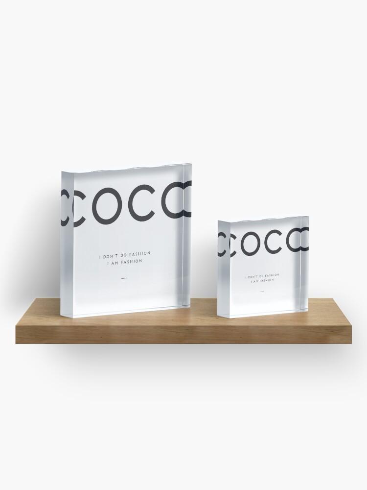 Alternate view of Coco Chanel Acrylic Block
