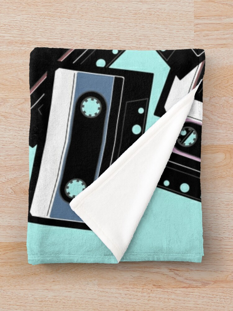 Alternate view of 80s Colorful Cassette Mix Tape Pattern Throw Blanket