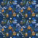 April Schauer. Süße Katzen im Garten von Anna Alekseeva