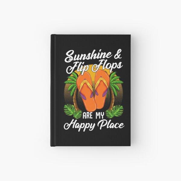 Sunshine & Flip Flops Summer Vacation Beach Holiday graphic Hardcover Journal