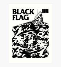 Black Flag - Six Pack Art Print