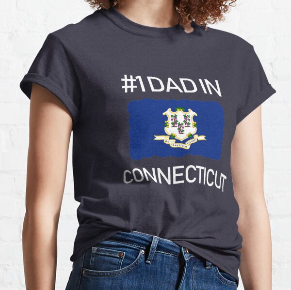 Connecticut State Fathers Day Number 1 Dad deisgn Classic T-Shirt