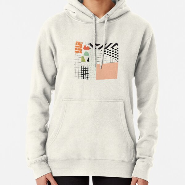 minimal abstract coral Pullover Hoodie