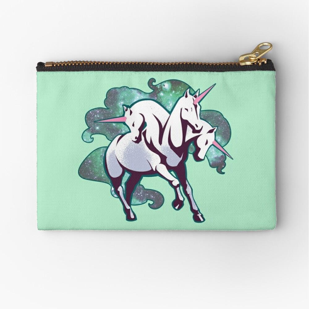 3 headed unicorn Zipper Pouch