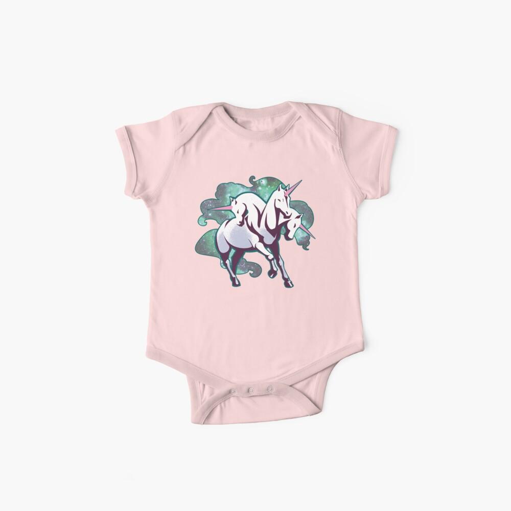 3 headed unicorn Baby One-Piece