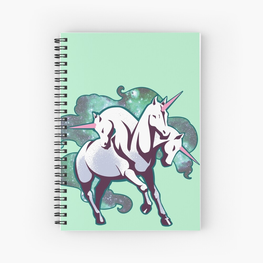 3 headed unicorn Spiral Notebook