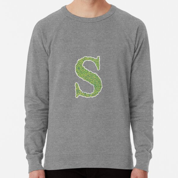 Alphabet S - Woodland Green Lightweight Sweatshirt