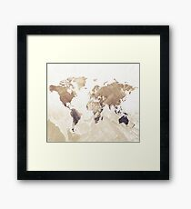 MAP-Freedom vibes worldwide  III Framed Print