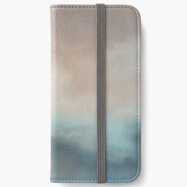 Snowy Clouds (cloudscape painting in soft pastels) iPhone Wallet