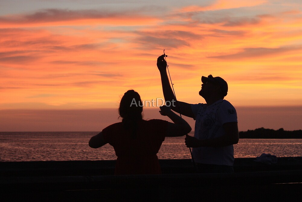 Sunset Fishing by AuntDot