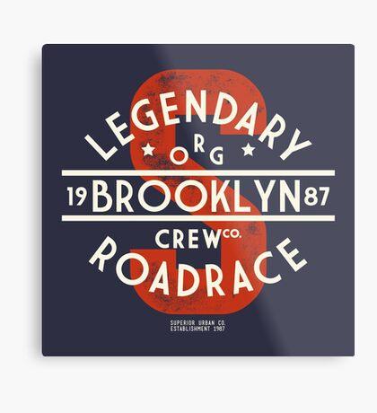 Vintage Legendary Brooklyn Road Race Metal Print