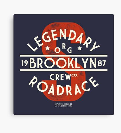 Vintage Legendary Brooklyn Road Race Canvas Print