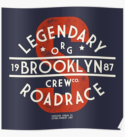 Vintage Legendary Brooklyn Road Race Poster