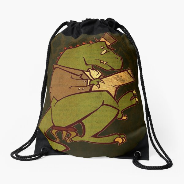 Gentleman T-Rex Drawstring Bag