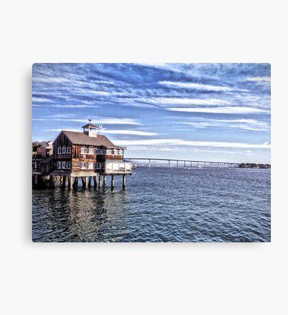 Pier Cafe - San Diego Canvas Print
