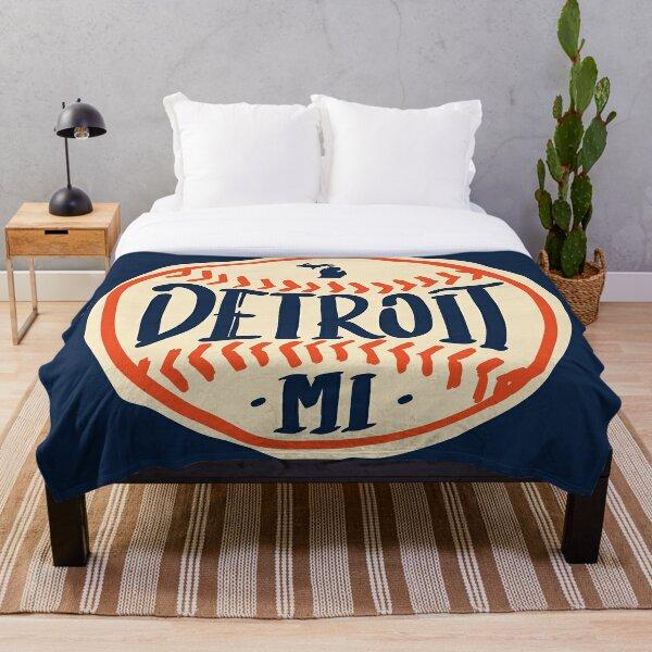 Detroit Michigan Hand Drawn Script Design Throw Blanket
