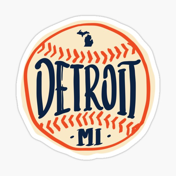 Detroit Michigan Hand Drawn Script Design Sticker