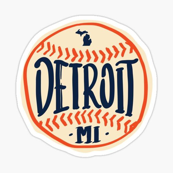 Diseño de guiones dibujados a mano de Detroit Michigan Pegatina