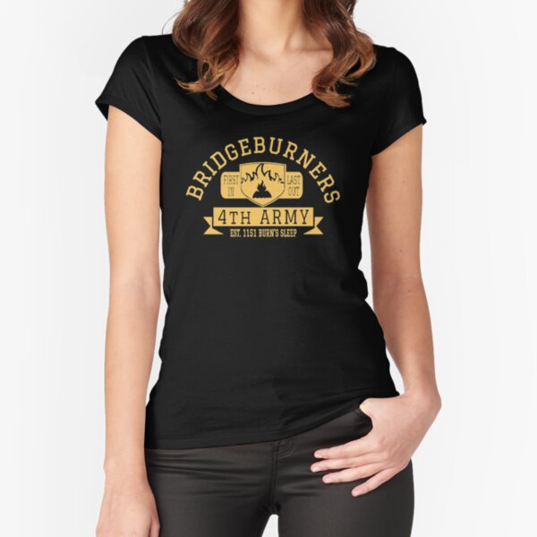 Malazan Bridgeburners Army Gold Fitted Scoop T-Shirt