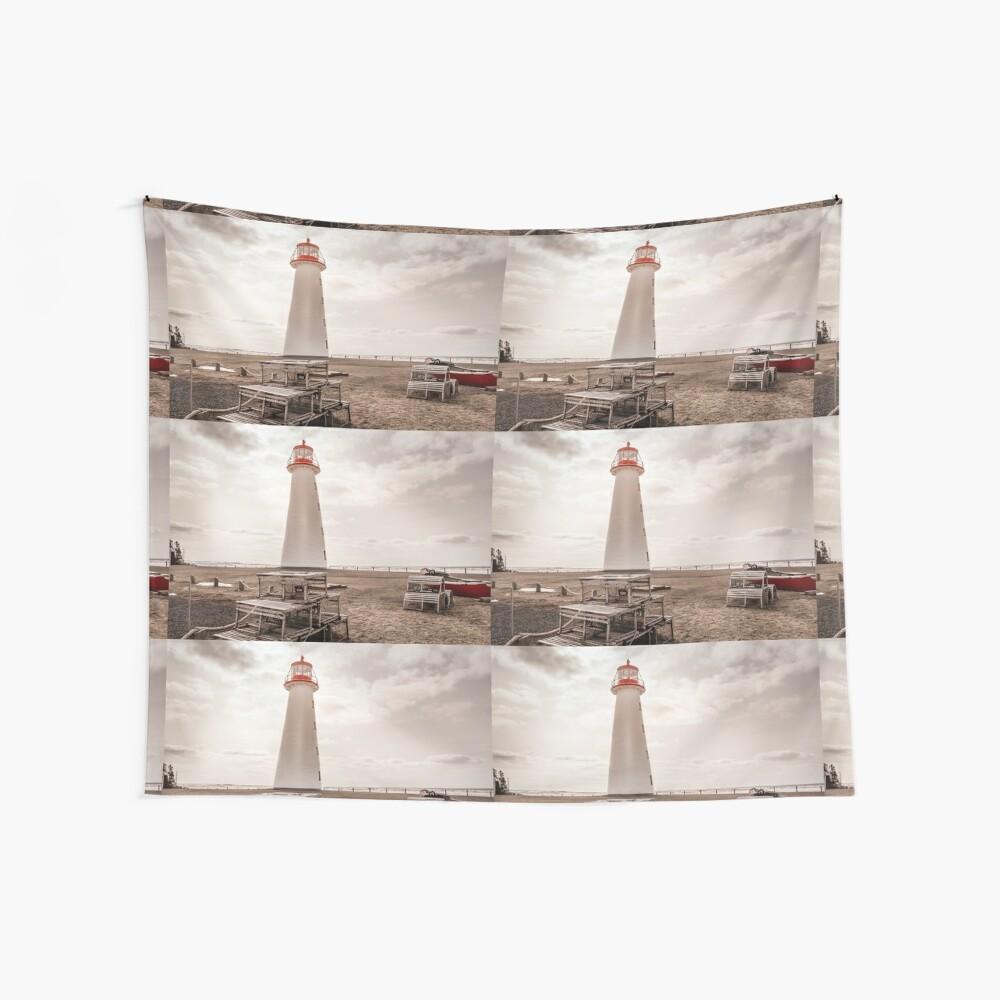 Kopie von Point Prim Lighthouse P.E.I. Kanada 6 Wandbehang