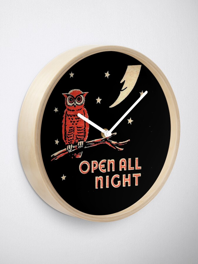 Alternate view of Open All Night Clock