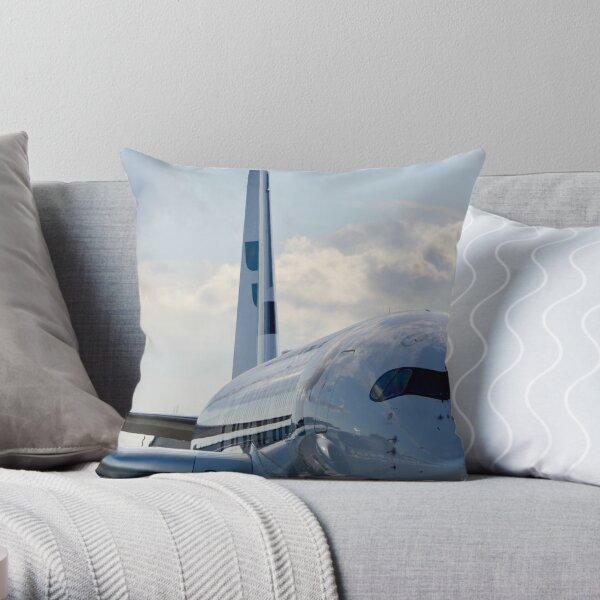 A Finnair Airbus A350 Throw Pillow