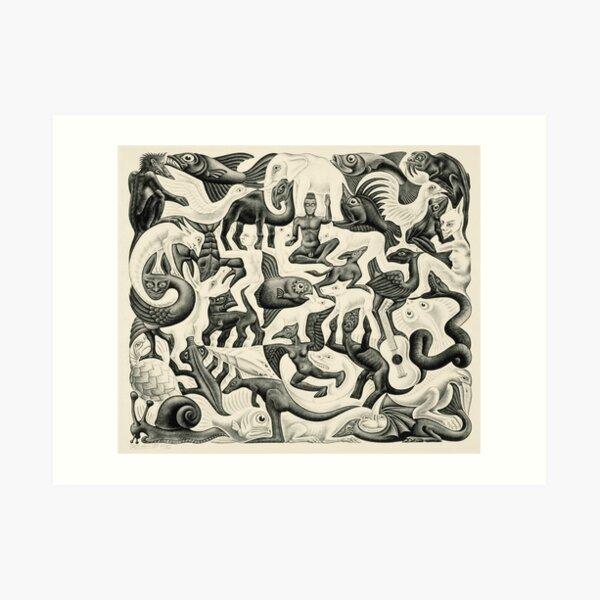 Escher - Relleno plano II Lámina artística