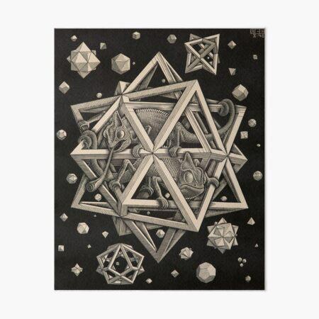 Escher - Stars Art Board Print