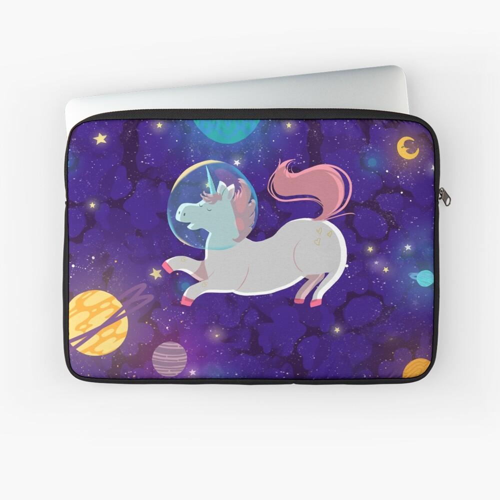 Housse d'ordinateur «The unicorn astronaut»