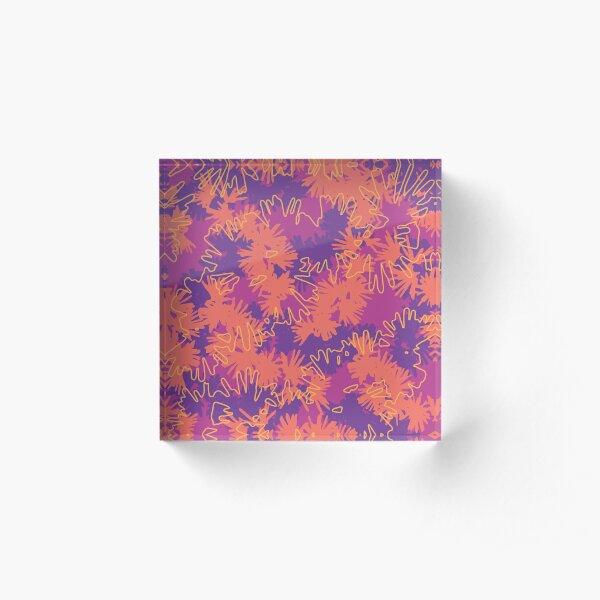 Tropical Pink Acrylic Block