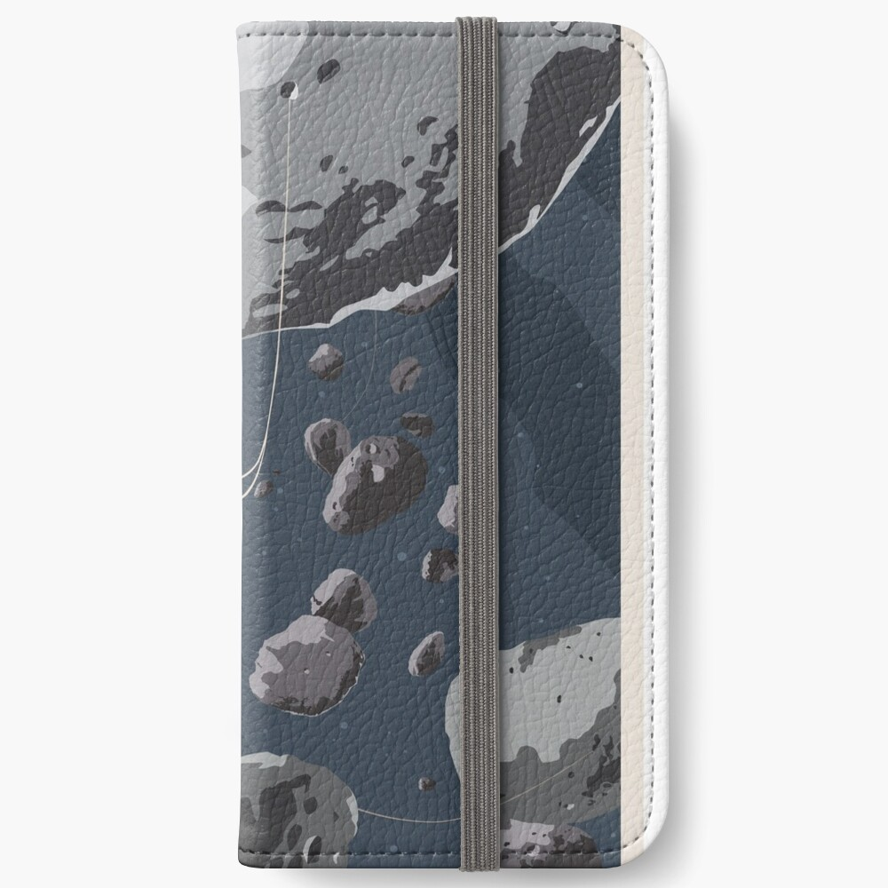 Zipline through the Asteroid Belt iPhone Wallet