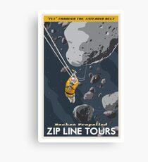 Zipline through the Asteroid Belt Canvas Print