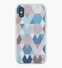 Mauve Blue Geometry I iPhone Case