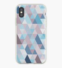 Mauve Blue Geometry IV iPhone Case